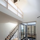 阿佐ヶ谷ライト・エコハウスの写真 階段と吹抜けのあるリビング・ダイニング