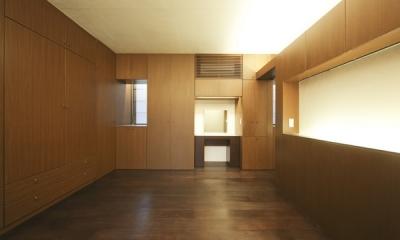 湯島の家-リノベーション (寝室)