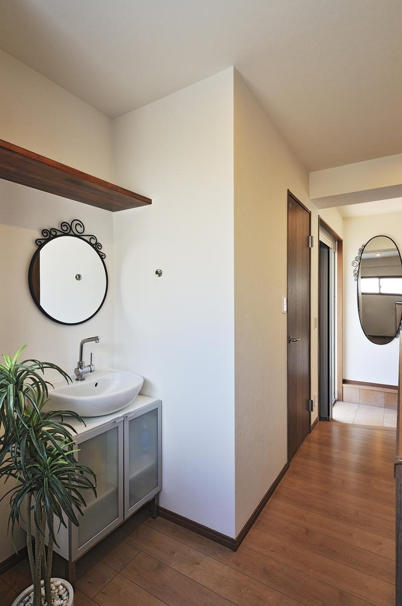 リフォームで、持続可能な住居へ (手洗い場)