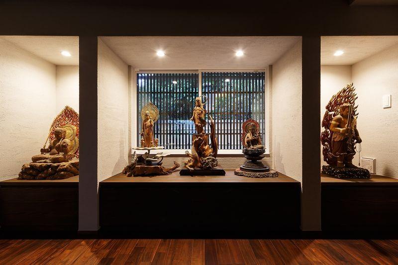 姫路天満の家・第一期 (仏像の展示コーナー)