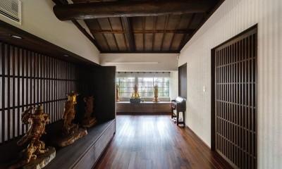 姫路天満の家・第一期 (照明消灯時の室内)