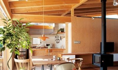大地に根付く家|mat house (ダイニング)