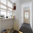 S邸-素材選びにこだわって、シンプルな家が個性的にの写真 玄関