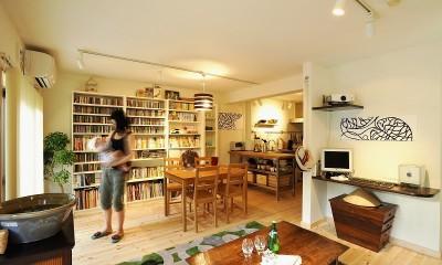 家族全員気持ちよく過せる、自然素材と回遊間取りの家