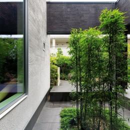 摂津の家 (クロチクの坪庭)