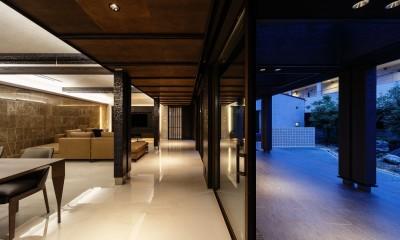 摂津の家 (夜のLDK空間)