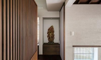 姫路天満の家・第一期 (玄関と展示コーナー)