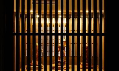 姫路天満の家・第一期 (格子越しの展示スペース)