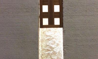 南大阪の家② (リビングルームのニッチ詳細)