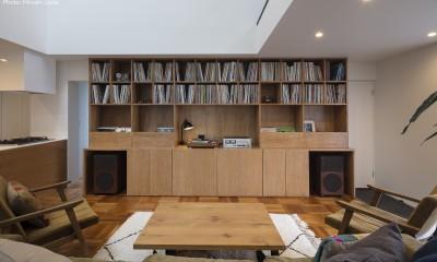 建もの探訪で放送 レコード棚のある家 OUCHI-43 (造作レコード棚)