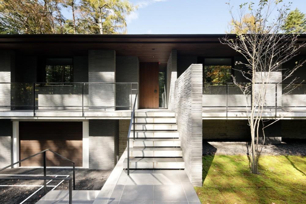 061軽井沢Hさんの家 (玄関)