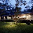 061軽井沢Hさんの家の写真 外観夕景