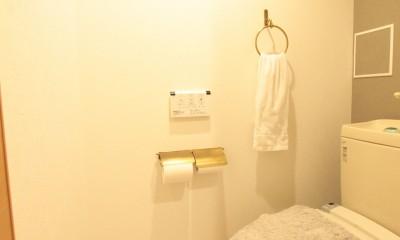 ご不満を解消!心地良い間取りに自然素材リノベーション (トイレ)