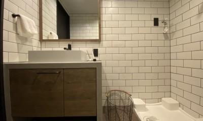 Brooklyn Style 〜大好きな自転車と暮らす家 (洗面室)
