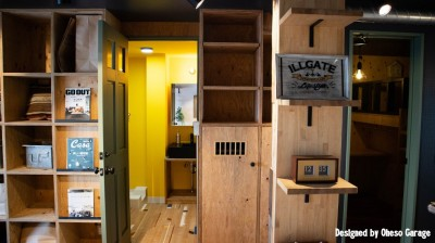 リビング/オリジナル家具・収納 (「家族の繋がりを最優先にした、ドミトリーのような家」座間市U様邸)