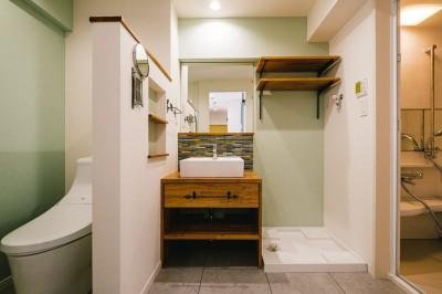 洗面室 (個性が光るテイストMIX空間)