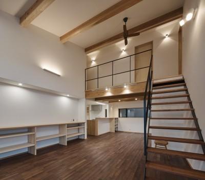 北下馬野町の家 新築工事 (リビング2)