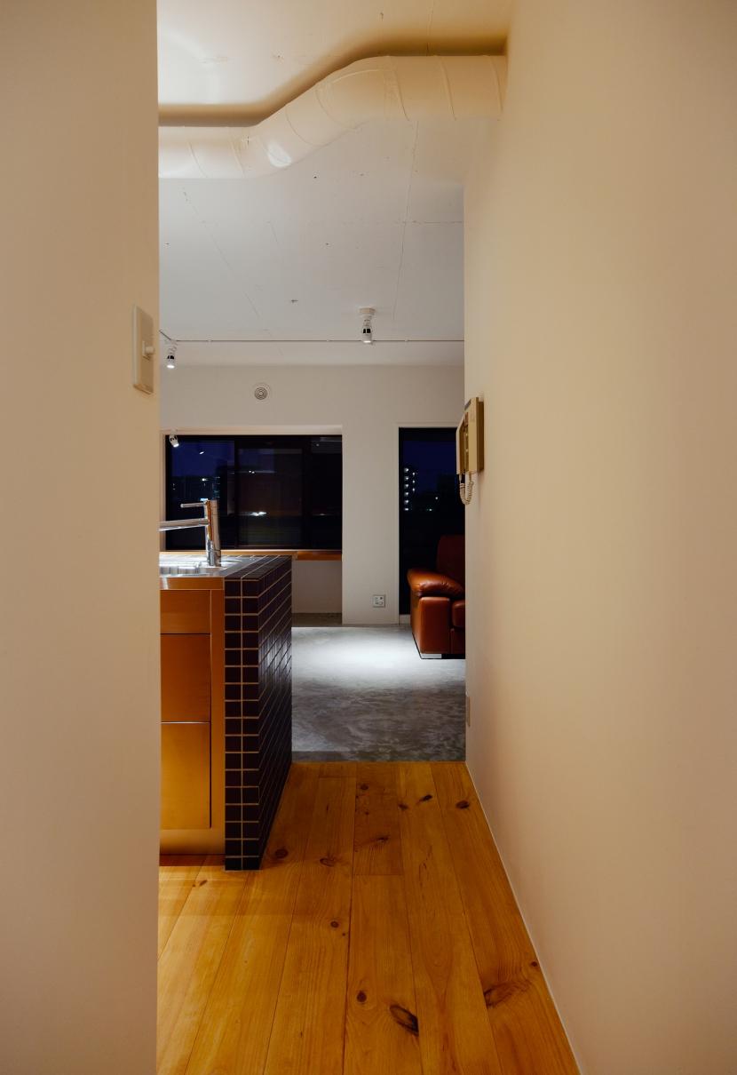 denim601の部屋 廊下から見たリビング