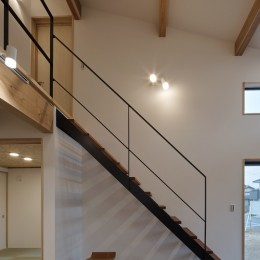 階段 (北下馬野町の家 新築工事)