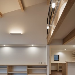 北下馬野町の家 新築工事 (リビング・ダイニング)