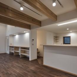 北下馬野町の家 新築工事 (ダイニング・キッチン)