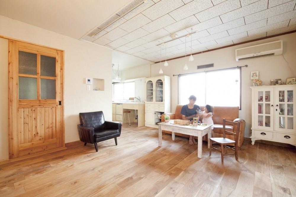 大阪府Mさん邸:古い一軒家がフレンチカジュアルな広々LDKに (広々LDK)