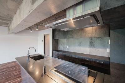キッチン (景色を取りいれる)