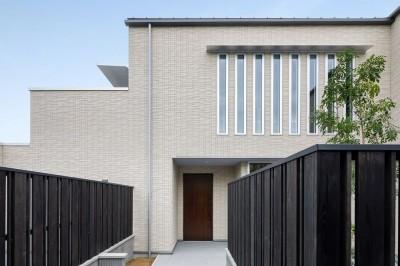 玄関アプローチ (富田林の家)