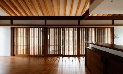 富田林の家 (LDK消灯時)