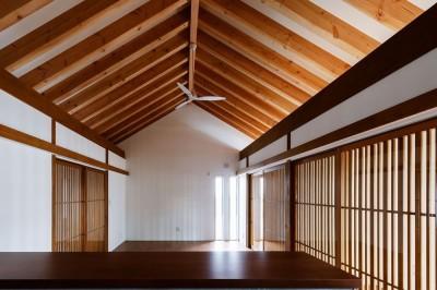 富田林の家 (LDK・消灯時3)