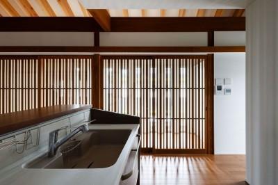 キッチンとサンルーム (富田林の家)