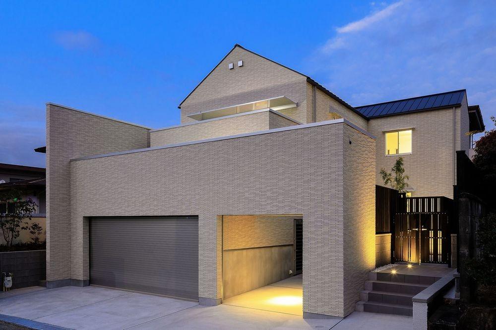 富田林の家 (外観・夜景)