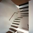 【大通りに建つ家】  騒音振動からすこやかな生活を守る砦の写真 室内階段