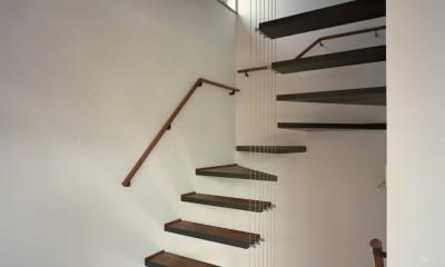 【大通りに建つ家】  騒音振動からすこやかな生活を守る砦 (室内階段)