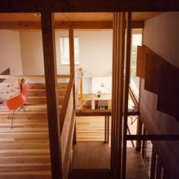 【川口の家】  柱と梁の立体格子がつくる巨大なワンルーム (吹抜・子供部屋・ベッドルーム)
