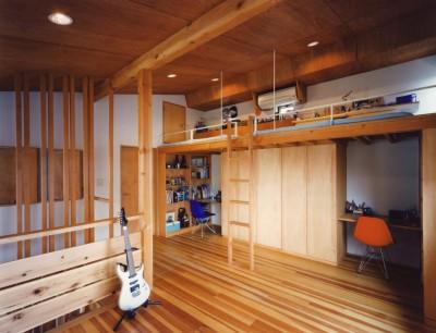 子供部屋 (【川口の家】  柱と梁の立体格子がつくる巨大なワンルーム)