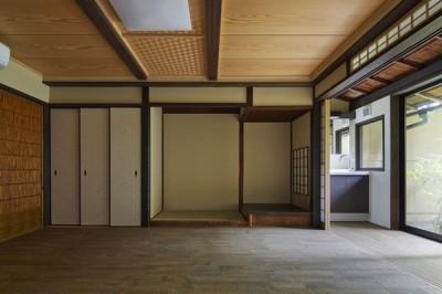 蘇った和室 (中京の家#京町家大規模リノベーション)