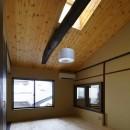中京の家#京町家大規模リノベーションの写真 登り梁あらわし