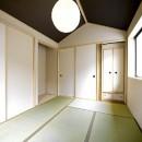 高倉通りの家#1つ1つの部屋にこだわった家の写真 船底天井の和室