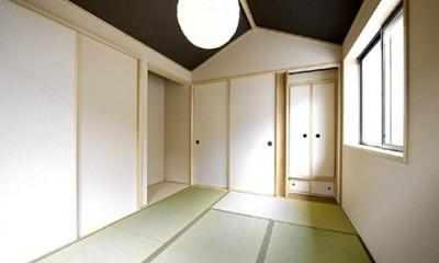 高倉通りの家#1つ1つの部屋にこだわった家 (船底天井の和室)