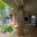 祖父江町の家/角地に建つ平屋の住まいの写真 居間食堂