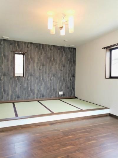 小上がり畳のある寝室 (ダブル断熱×全館空調)