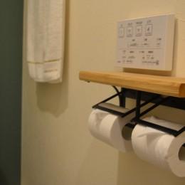 50平米という限られた空間を広く見せるマンションリノベーション (トイレ)