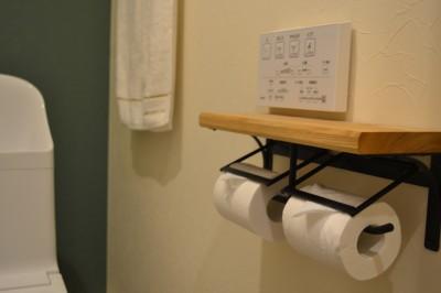 トイレ (50平米という限られた空間を広く見せるマンションリノベーション)