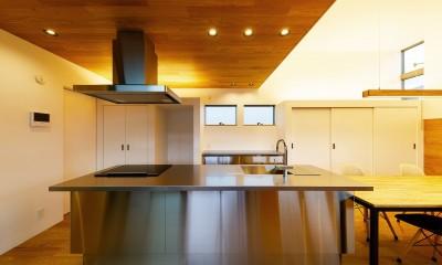 haus-slit / 稜線に沿ったスリットで自然を感じる中庭住宅 (haus-slit キッチン)