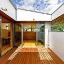 haus-slit / 稜線に沿ったスリットで自然を感じる中庭住宅の写真 haus-slit 中庭