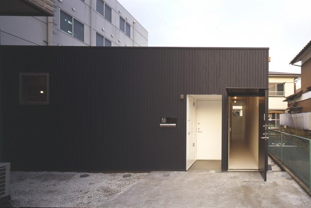 下丸子の平屋 (各世帯玄関)