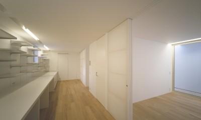 新横浜の住宅 (2階スタディースペース)