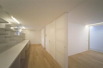2階スタディースペース (新横浜の住宅)