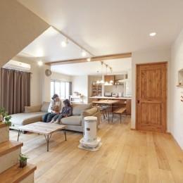 大阪府Fさん邸:家族がつながる開放的なLDK